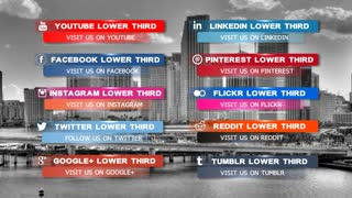 Clean And Simple Social Media Lower Third Pack