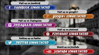 Clean Social Media Lower Third Pack