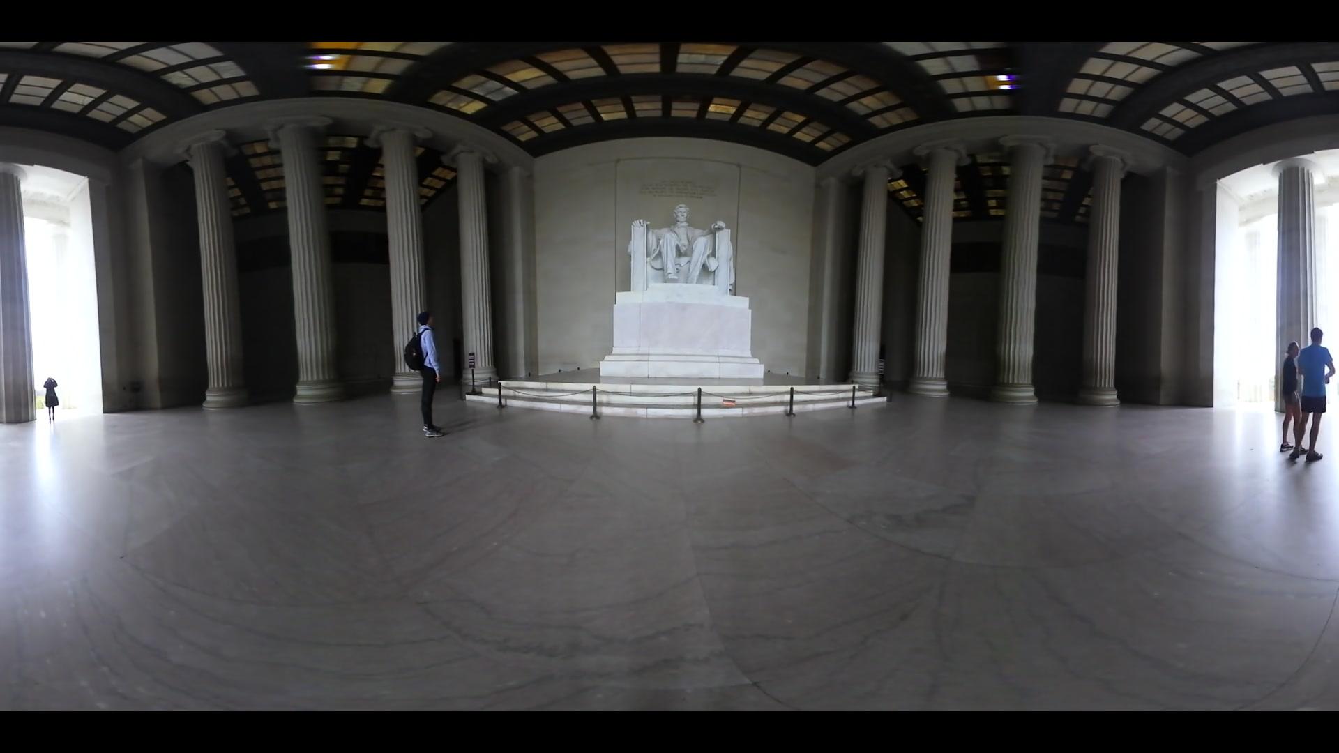 360 VR Grand Abraham Lincoln Statue In Lincoln Memorial Washington DC