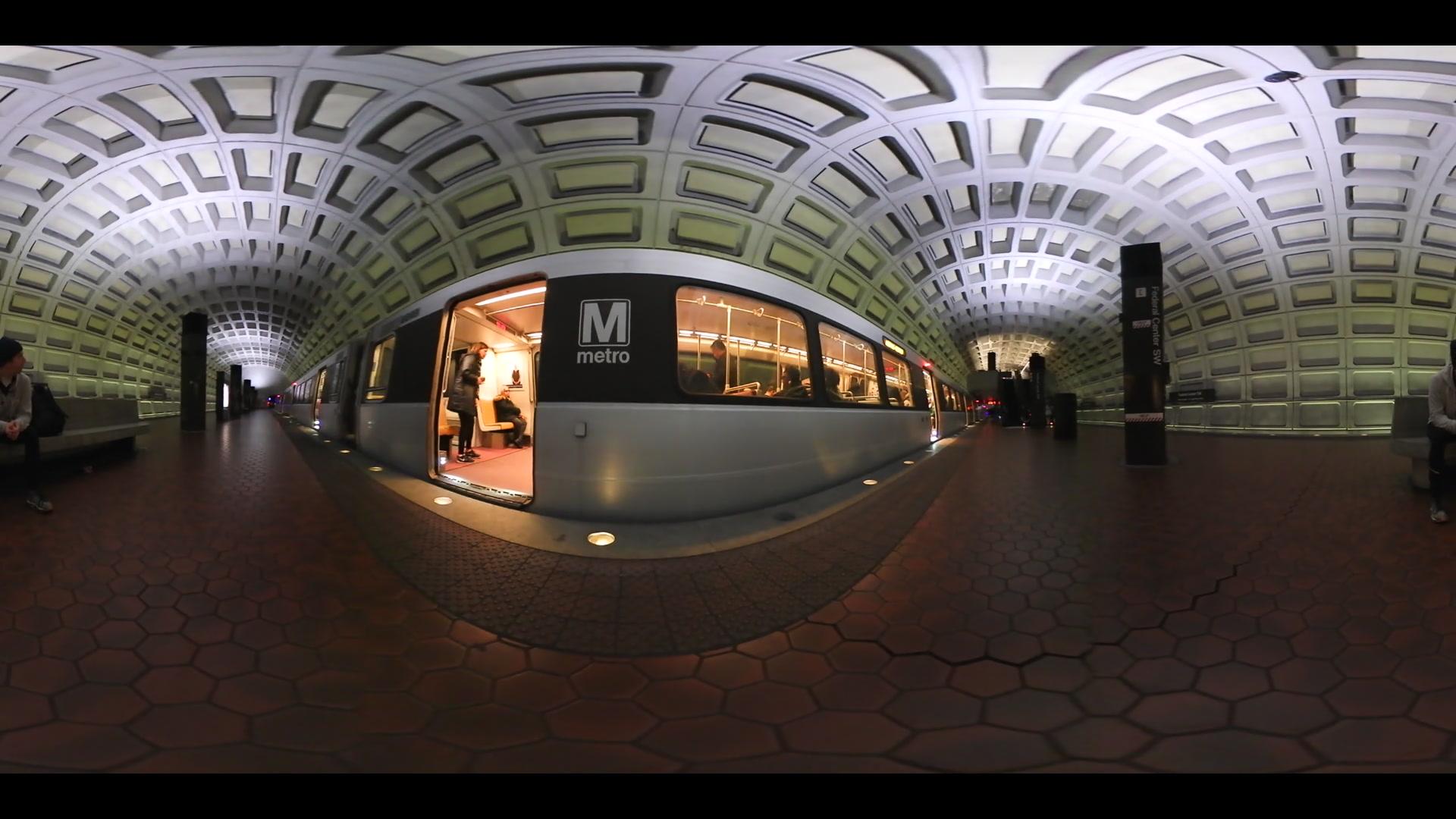 DC Metro Train 360 video