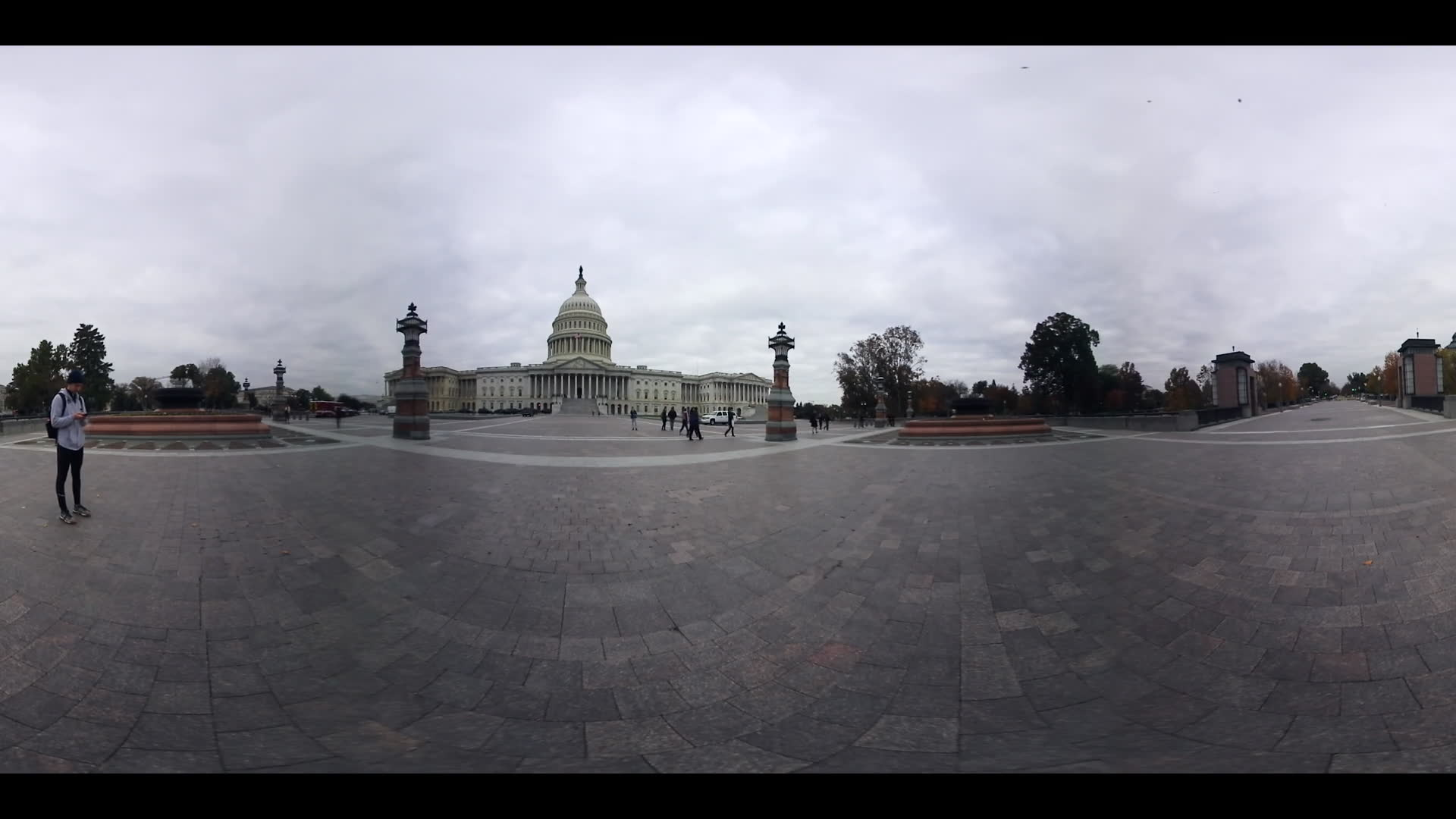 360 VR Us Congress Capitol Building and Gardens