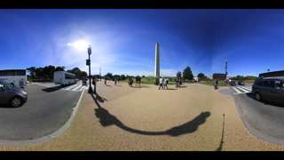 360 VR Video Washington Monument Dc National Mall Traffic And Tourism