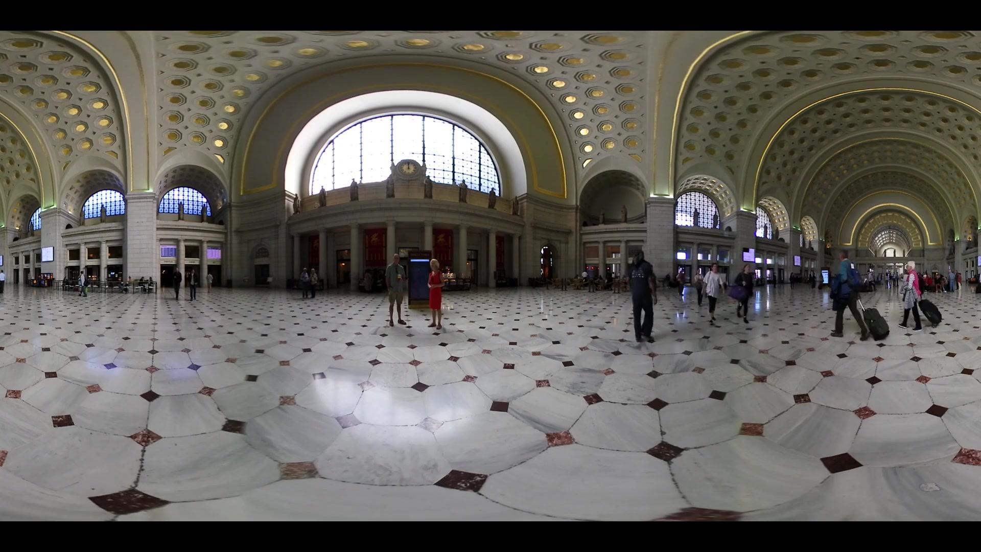 Washington Union Station DC Metro 360 VR