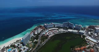 Cancun Mexico Aerial Footage