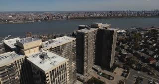 Cliffside Park NJ Descending Shot Of Apartment Buildings