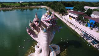 Snakes Statue Dragon 360 Aerial View