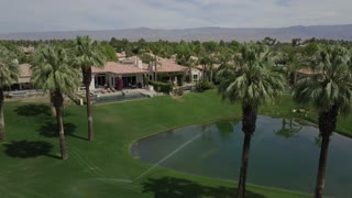 Aerial Footage of a Golf Course Community in Southern California