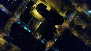 Aerial Footage of Chinatown at Night, NYC