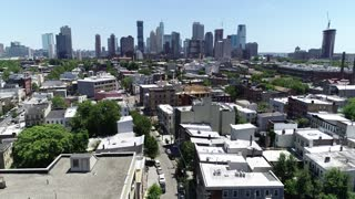 Aerial Footage of Jersey City, New Jersey