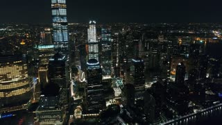 Aerial Footage of One World Trade Center, New York City