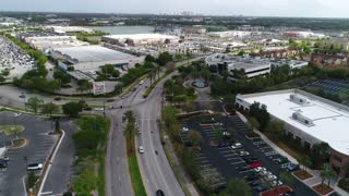Aerial Footage of the Mall of Millenia in Orlando, FL