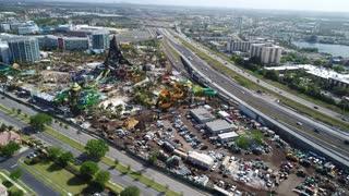 Aerial Footage of Universal Studios Volcano Bay, Orlando FL