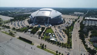 Aerial of AT&T Stadium, Cowboys, Dallas Texas