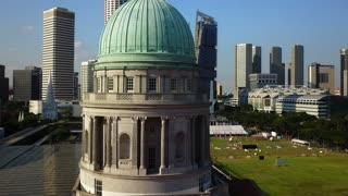 Aerial of Dome of old Supreme Court Building, Singapore