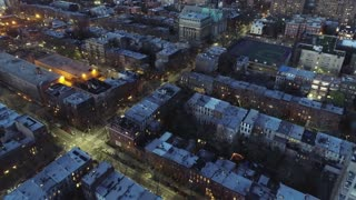 Aerial of Downtown Brooklyn, New York