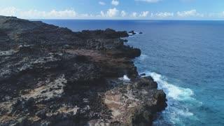 Aerial of Geyser in Oahu, Hawaii