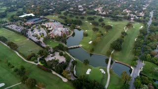 Aerial of Golf Course in Highland Park in Dallas, Texas