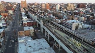 Aerial of Gowanus, Brooklyn