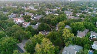 Aerial of Highland Park in Dallas, Texas