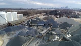 Aerial of Industrial Area in Philadelphia, Pennsylvania