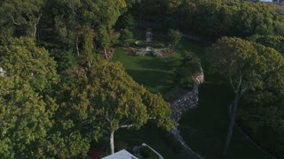 Aerial of Large Estate Property, Landscaping, Long Island