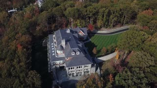 Aerial of Mansion Estate, Long Island