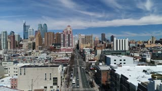 Aerial of Philadelphia, Pennsylvania