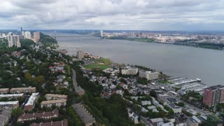 Aerial of the Winston Towers in Cliffside Park, New Jersey