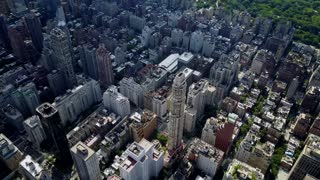 Aerial of Upper East Side, New York City