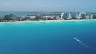 Aerial of Zona Hotelera, Cancun, Mexico