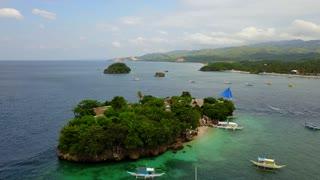 Boracay Philippines Island Boats 17 Basketball Aerial