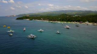 Boracay Philippines Island Boats 33 Aerial