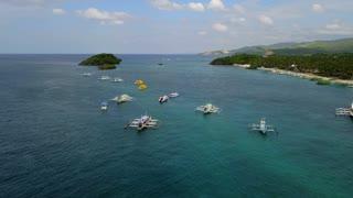 Boracay Philippines Island Boats 34 Aerial