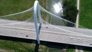 Dallas Bridge Aerial 3 Spinning