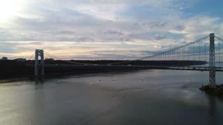 Nyc Gw Bridge Evening Sunset Aerial 3