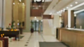 Lobby hotel blurred background