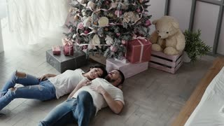 Lovers, happy, celebrate Christmas or New Year