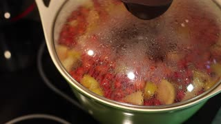 Preparation of compote