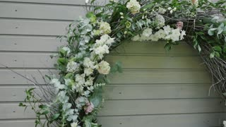 Wedding decoration from flowers