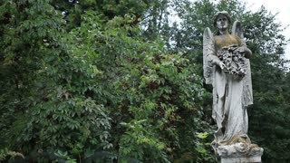 Beautiful statue of angel at the old cemetery