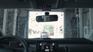 Car Cleaning in automatic Car Wash