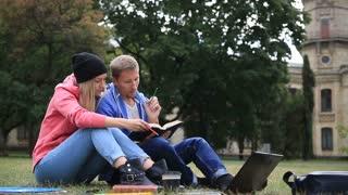 Couple of students enjoying student life