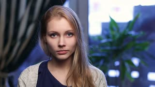 Portrait of cheerful teenage girl smiling