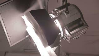 Studio spot light with hatches