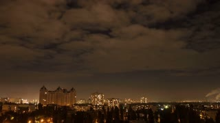 Timelapse cityscape night time at colorful style