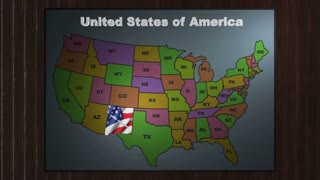New Mexico pull out from USA states abbreviations map