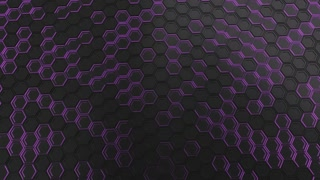 0116 Wall Of Black Hexagons With Purple Glow