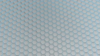 0152 Wall Of White Hexagons With Blue Glow