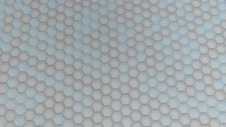 0158 Wall Of White Hexagons With Blue Glow