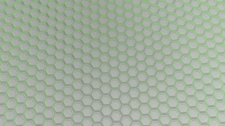 0164 Wall Of White Hexagons With Green Glow